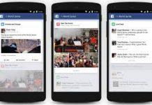 Facebook posizione app