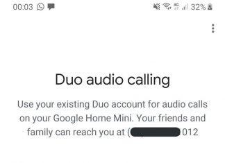 Google Duo Google Home